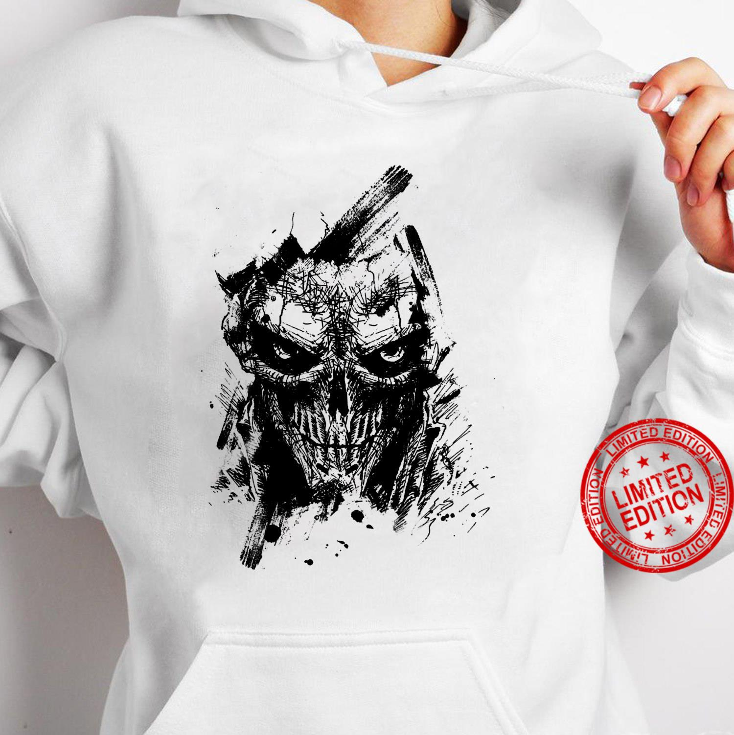 Creepy Zombie Demon Scary Horror Halloween Party Shirt hoodie