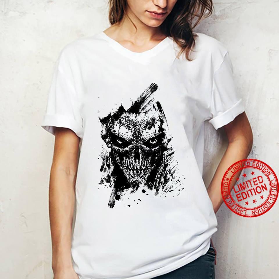 Creepy Zombie Demon Scary Horror Halloween Party Shirt ladies tee