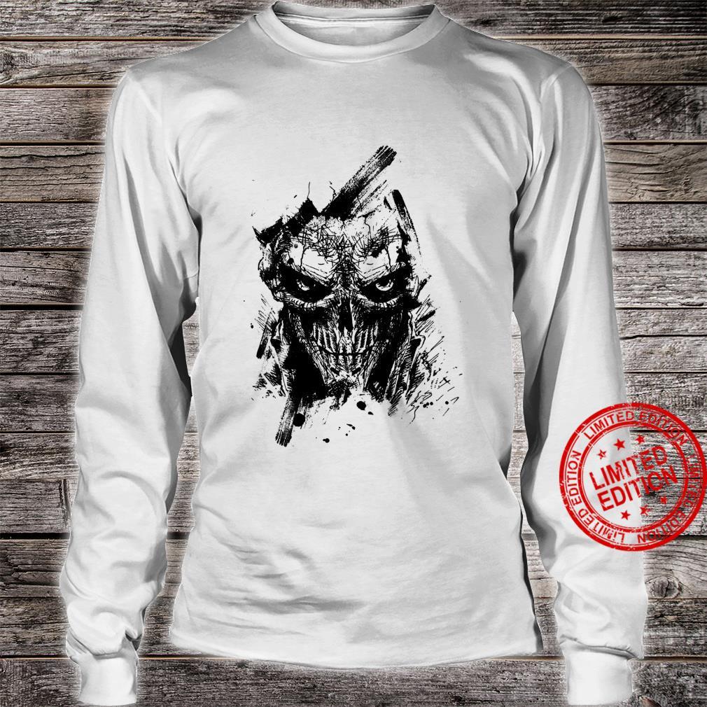 Creepy Zombie Demon Scary Horror Halloween Party Shirt long sleeved