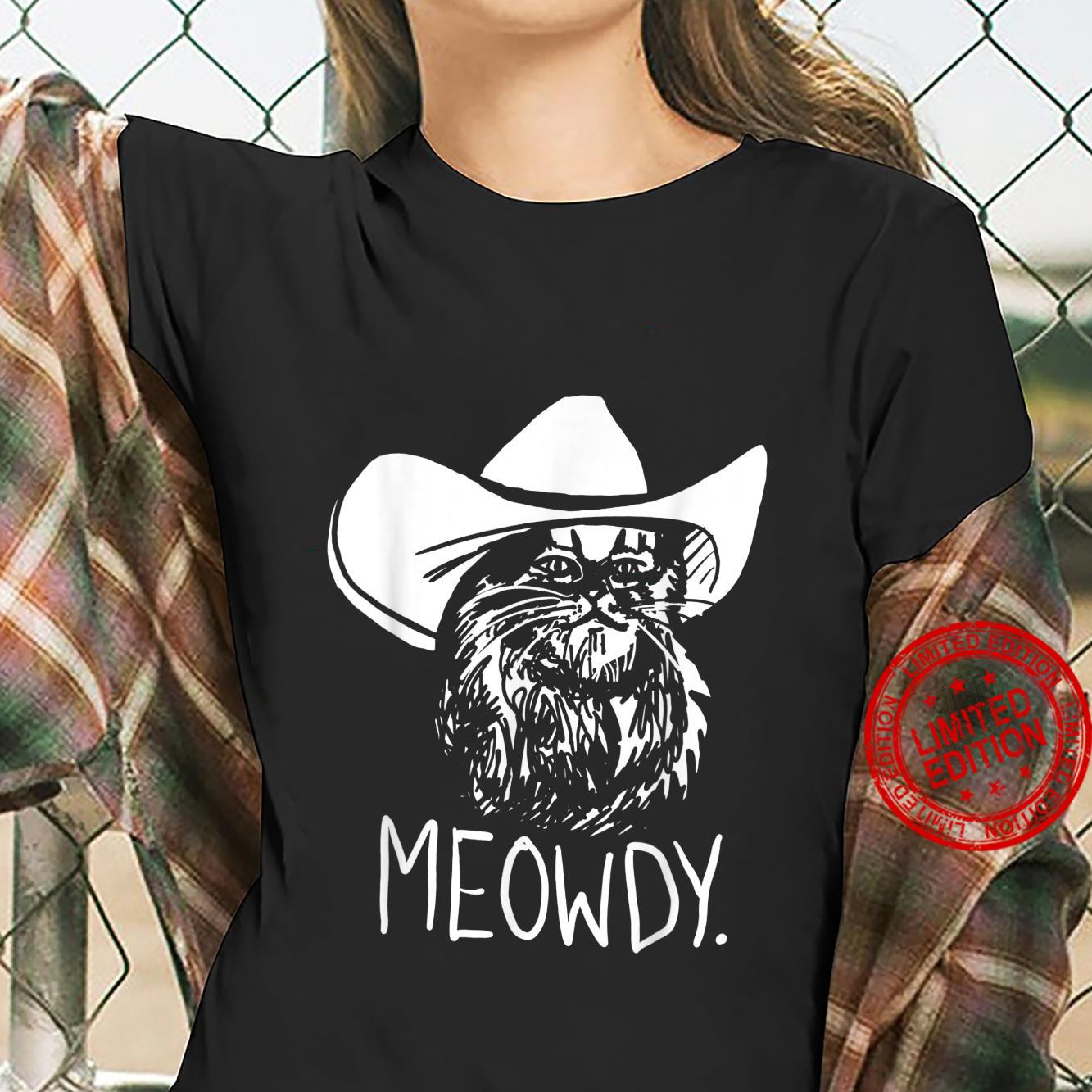 Meowdy Texas Cat Meme Shirt ladies tee