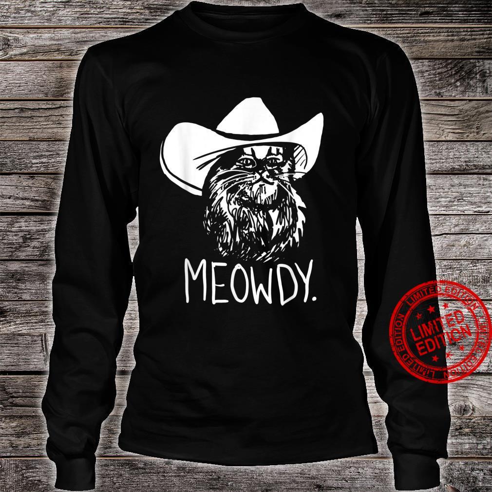 Meowdy Texas Cat Meme Shirt long sleeved