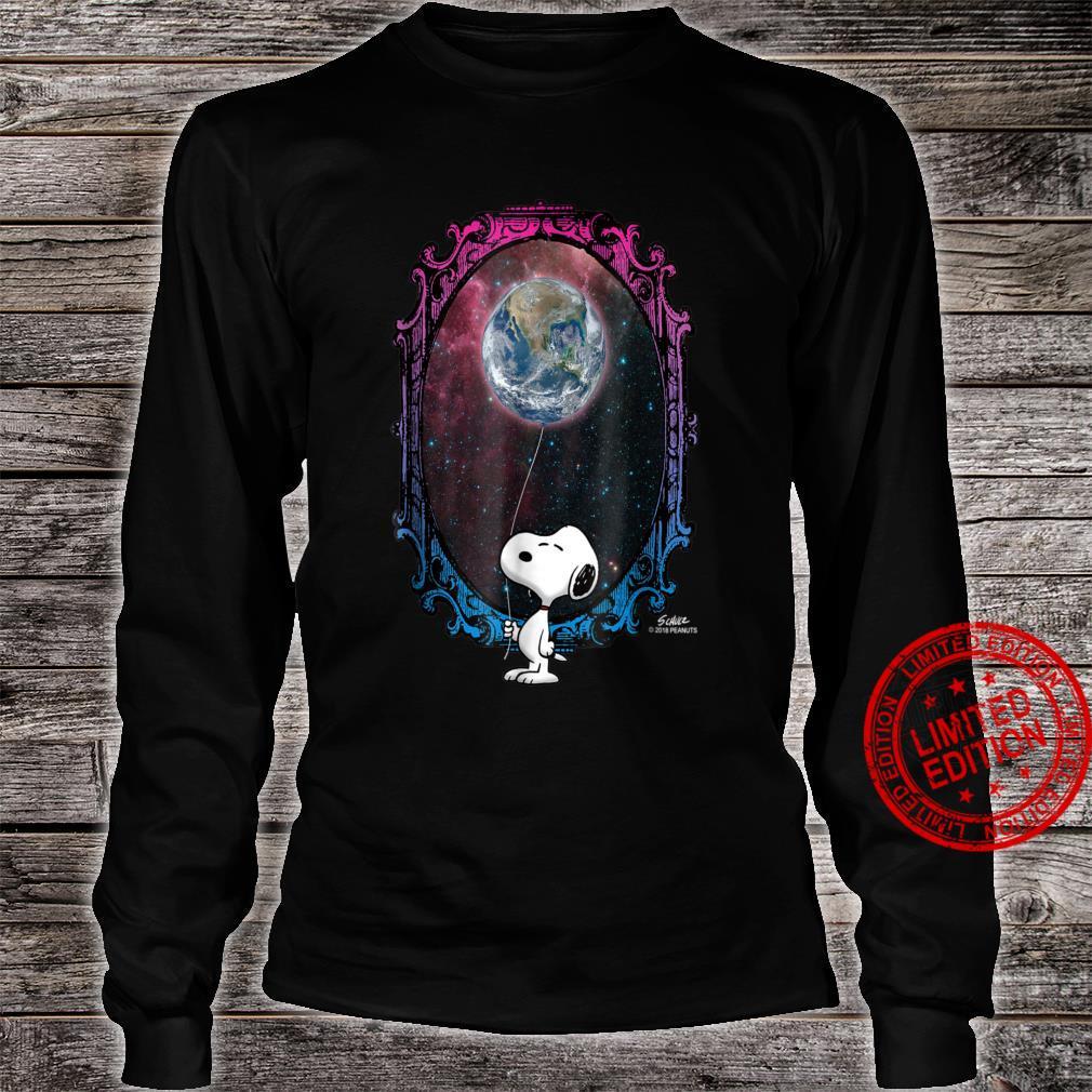 Peanuts Snoopy Space Earth Balloon Shirt long sleeved