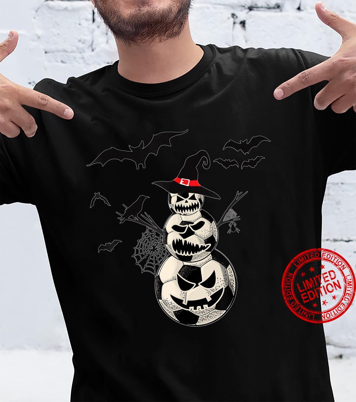 Soccer Snowman Halloween Shirt