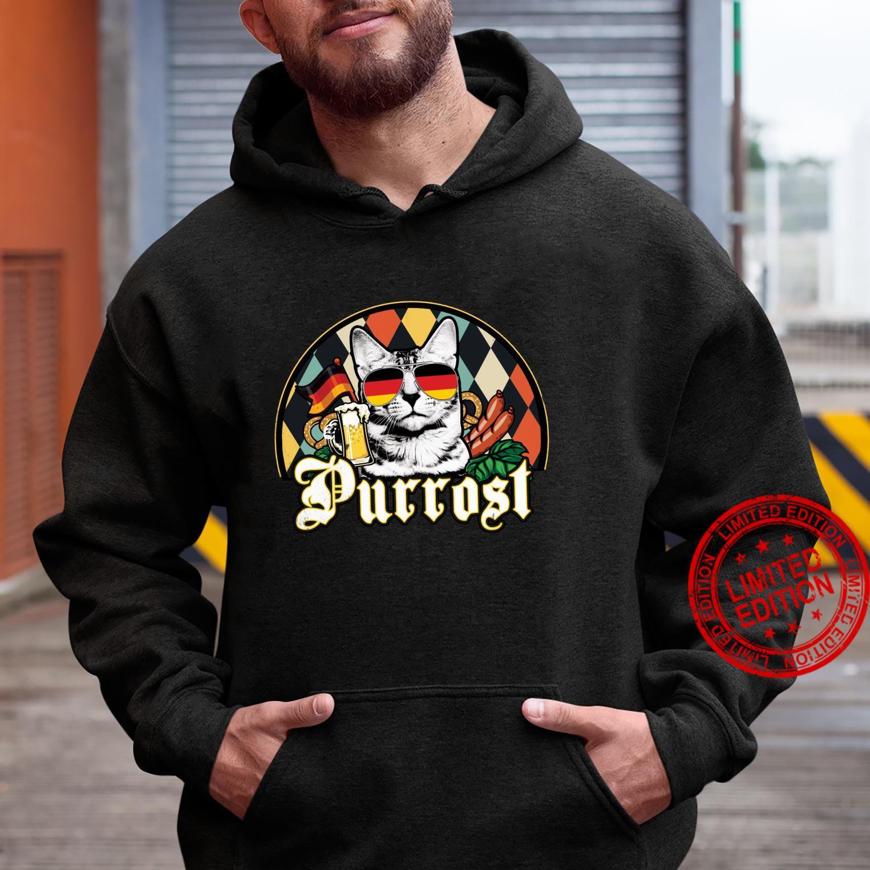 Vintage Oktoberfest Cat Lover Funny Prost Beer Purrost Cat Shirt hoodie