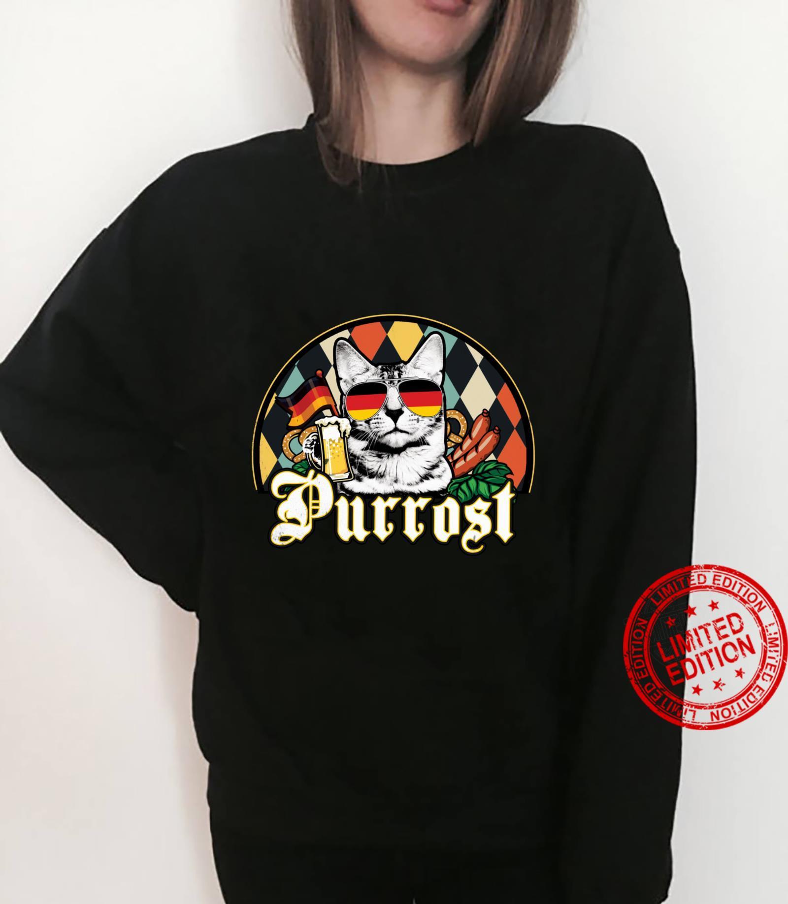 Vintage Oktoberfest Cat Lover Funny Prost Beer Purrost Cat Shirt sweater