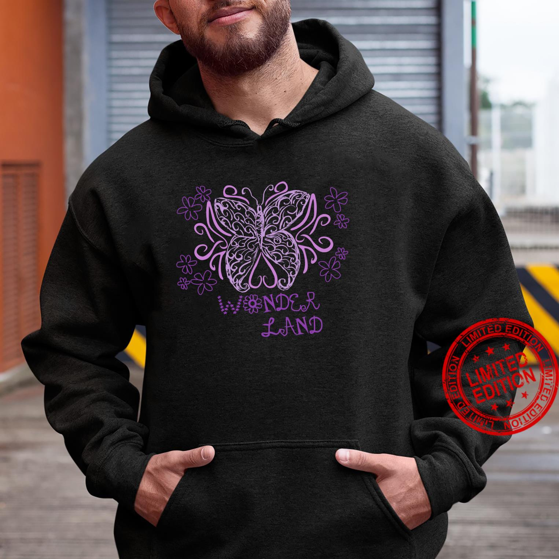 Wonder Flower Butterfly Land Shirt hoodie