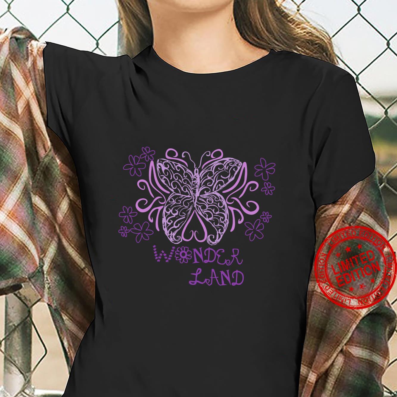 Wonder Flower Butterfly Land Shirt ladies tee